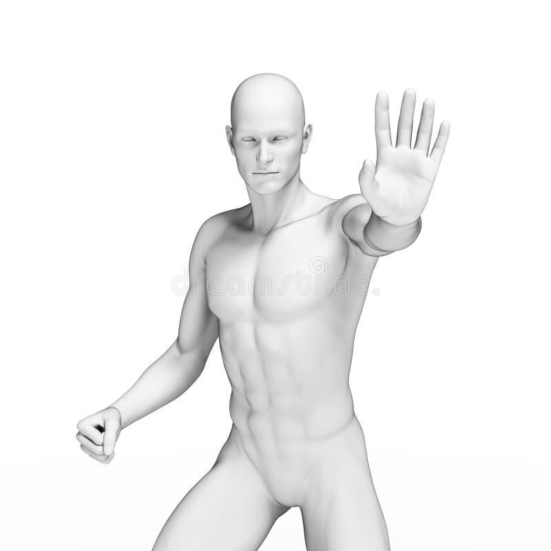 Defending man. 3d rendered illustration of a defending man vector illustration
