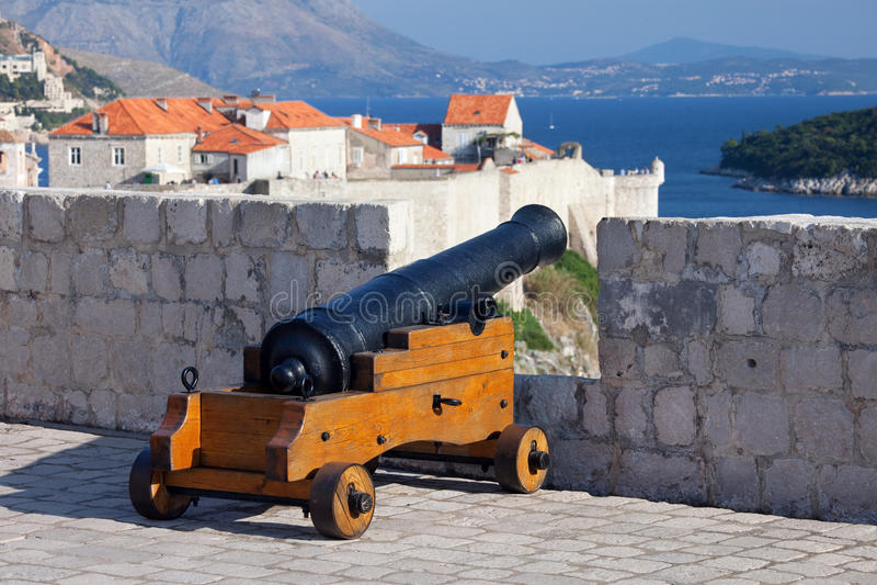 Defensa de Dubrovnik fotografía de archivo libre de regalías