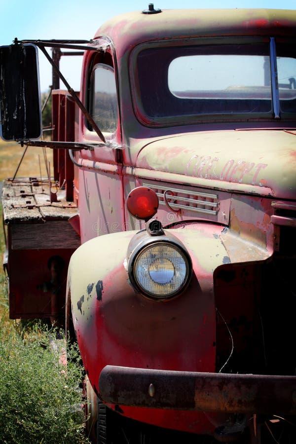 Defensa del coche de bomberos   foto de archivo