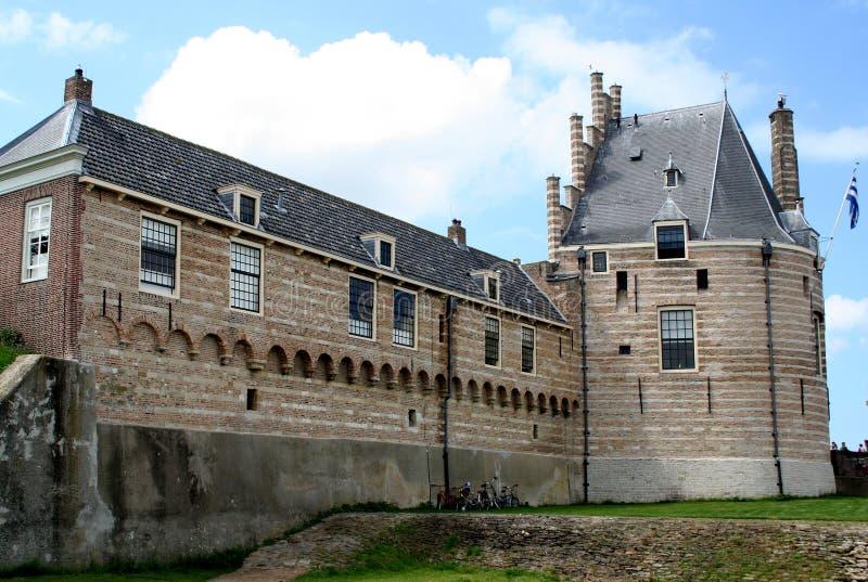 Defensa-torre anterior, la torre de Camperveerse foto de archivo