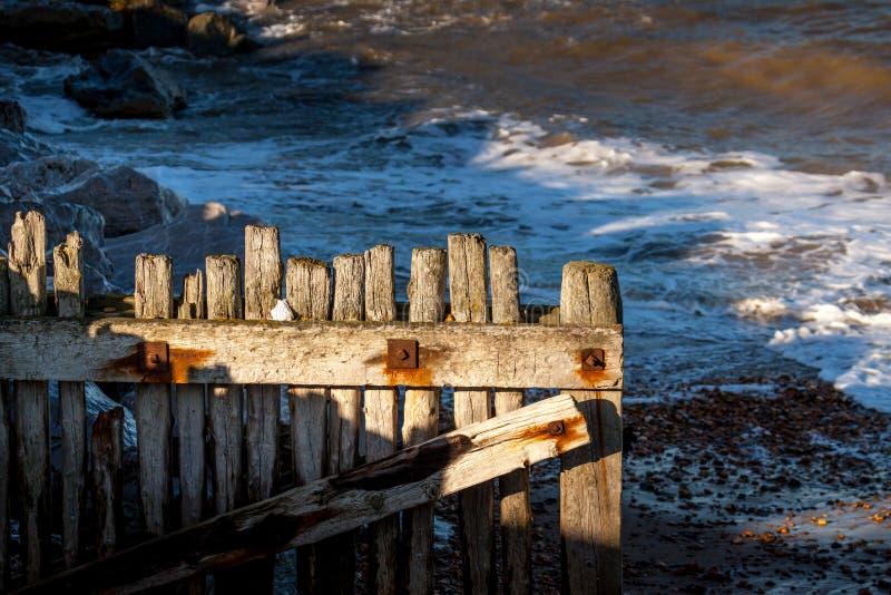 Defensas de mar de Reculver fotos de archivo libres de regalías