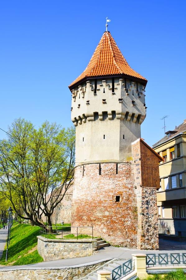 Defense tower in Sibiu royalty free stock photo