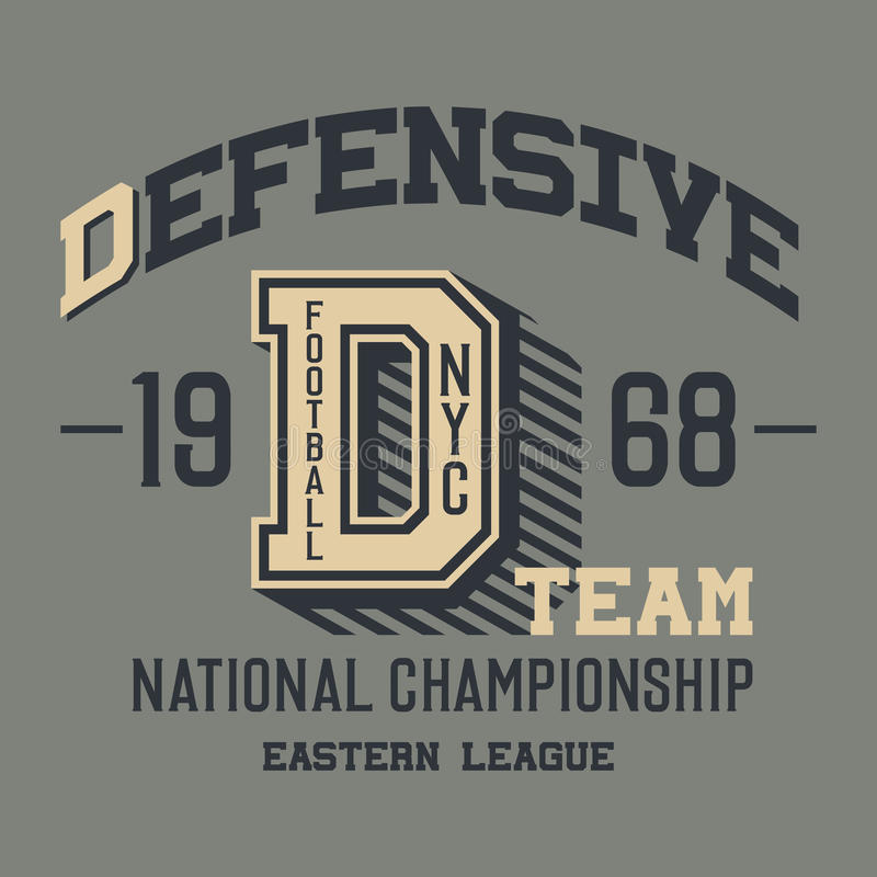 Free Defensive Football Team T-shirt Royalty Free Stock Photos - 51321558