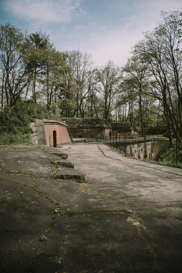 Defensive Fort of World War I. Gerhard& x27;s fort in Swinoujscie, Poland stock image