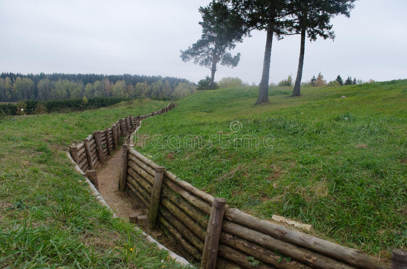 Defensive Stalin line system. The defensive system of Stalin line. Reminds in vague time in our history royalty free stock image