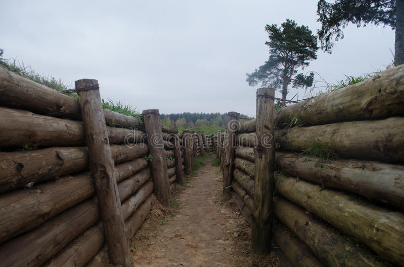 Defensive Stalin line system. Open-air museum. The defensive system on Stalin Line, a scary moment in our history royalty free stock photo