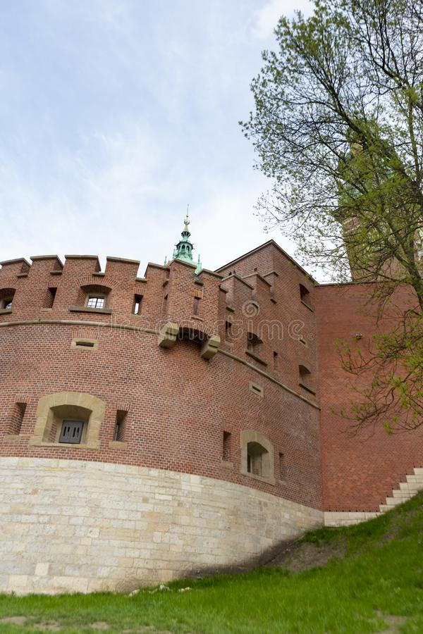 Wawel Castle complex from Krakow stock images