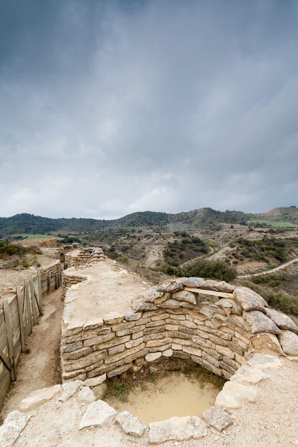 Download Defensivt Stridighetpos. I Alcubierre, Spanien Arkivfoto - Bild av spain, bunker: 27277116
