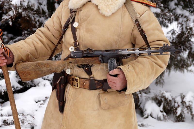 Defensor de Stalingrad em um formulário do inverno fotografia de stock royalty free