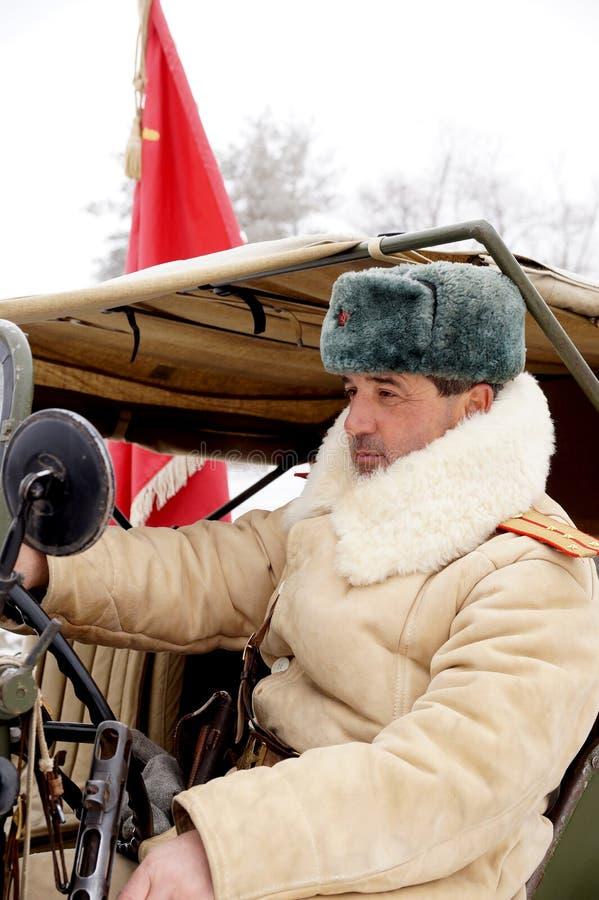 Defensor de Stalingrad em um formulário do inverno foto de stock royalty free