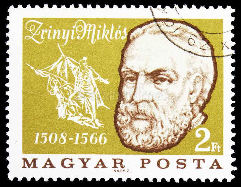 1508-1566) defensores de Miklos Zrinyi (do castelo de Szigetvar, serie das personalidades, cerca de 1966 imagens de stock royalty free