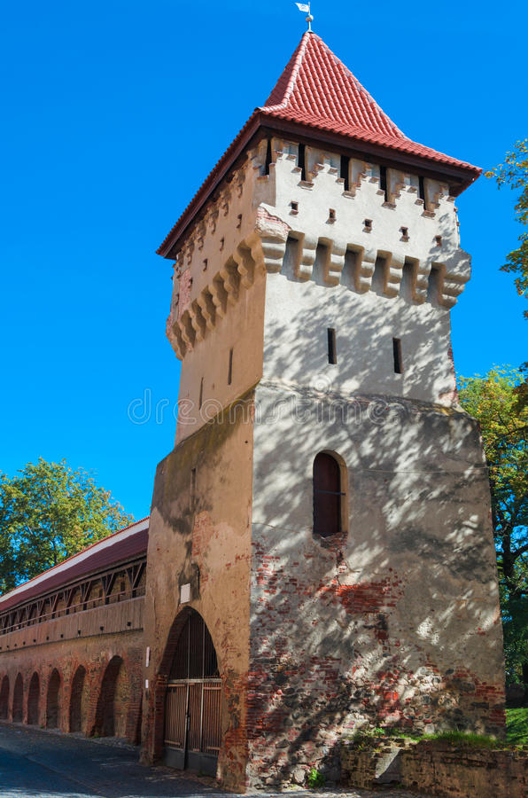Defenstoren Sibiu (Hermannstadt) stock afbeelding