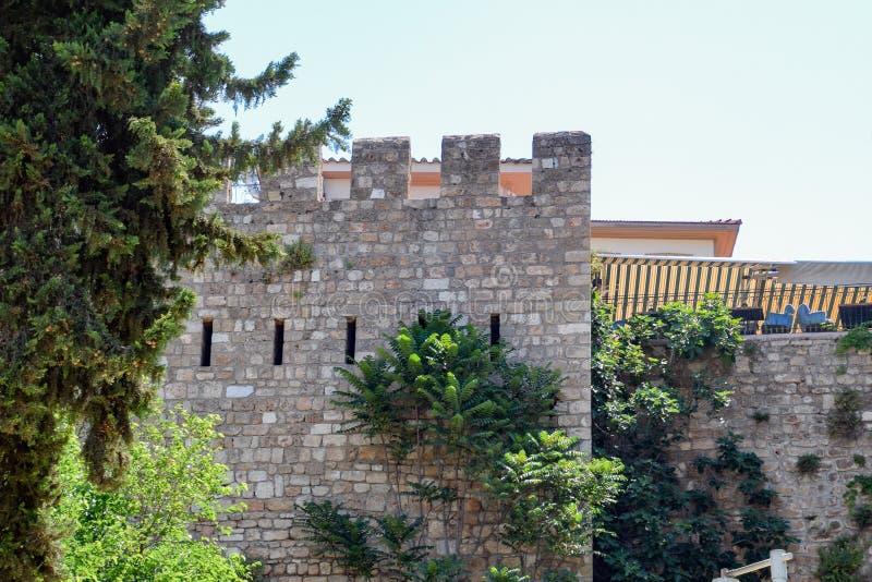 Defensywna ściana w Kaleici, starym mieście i antycznej ścianie, zdjęcia royalty free