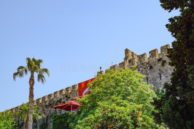 Defensywna ściana w Kaleici, starym mieście i antycznej ścianie, obrazy stock