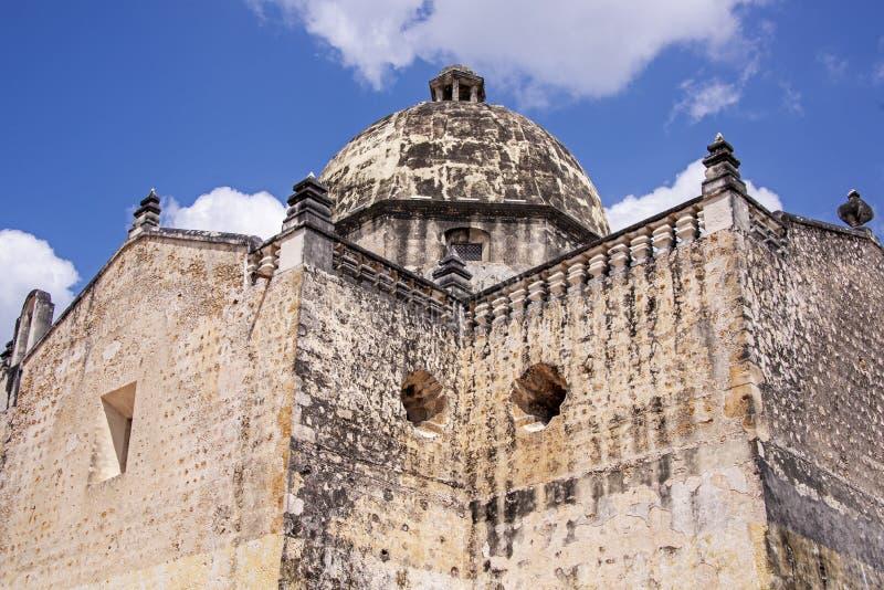 Defensywne ściany Meksykański port morski fotografia royalty free