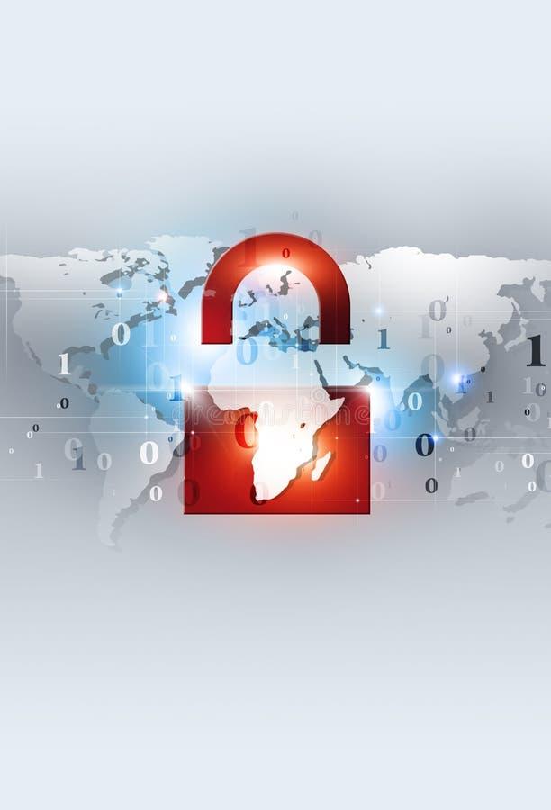 Defesa da Web do código binário ilustração do vetor