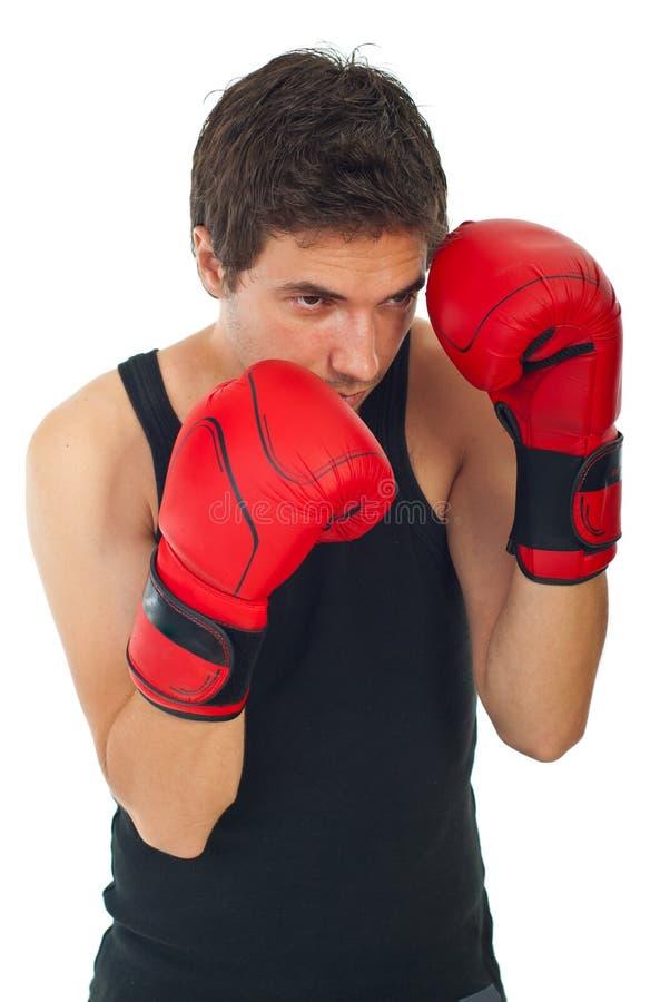 Defesa do homem do pugilista imagem de stock royalty free