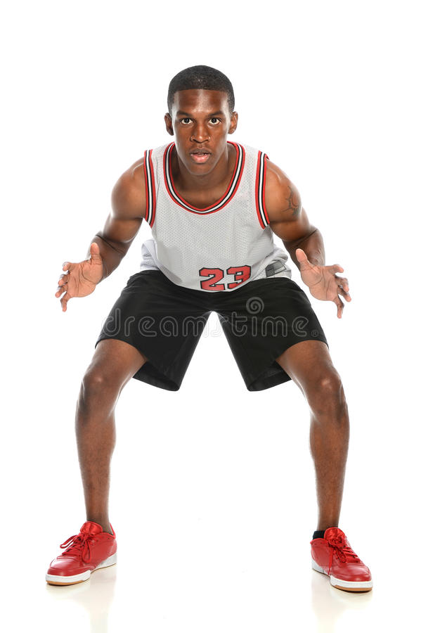 Defesa do jogador de basquetebol fotos de stock