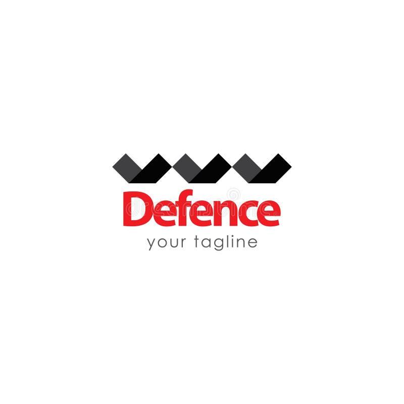 Defesa Logo Vetora Template Design Illustration ilustração royalty free