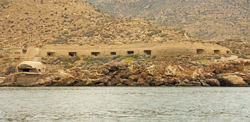 Defesas da guerra civil espanhola, Cartagena imagem de stock royalty free