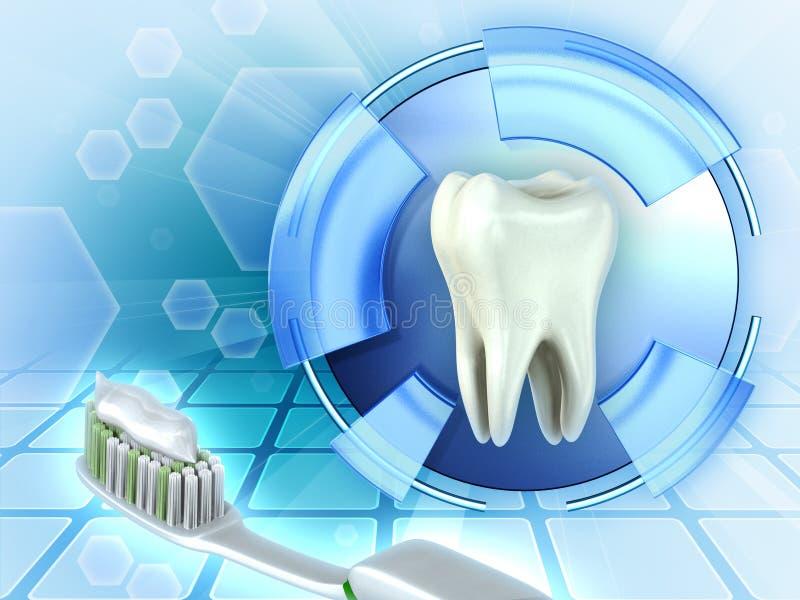 Defesas dos dentes ilustração royalty free
