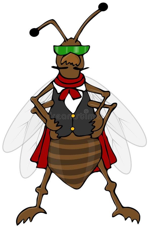 Download Defiant bug wearing a vest stock illustration. Image of vest - 35994047