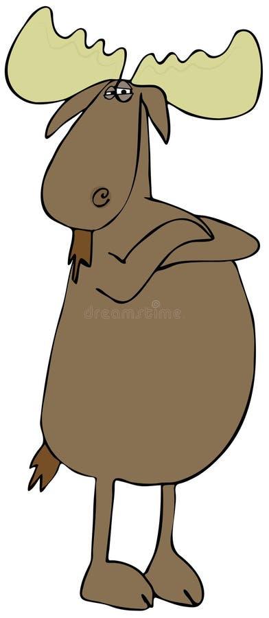 Download Defiant moose stock illustration. Illustration of aloof - 32464162