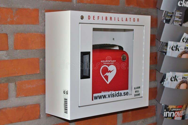defibrillator arkivfoton