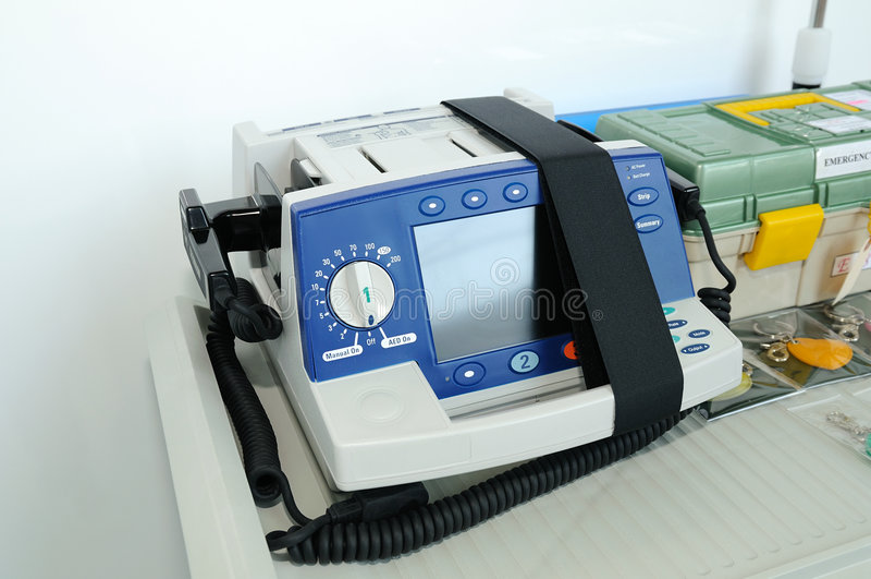 Defibrillator fotografie stock