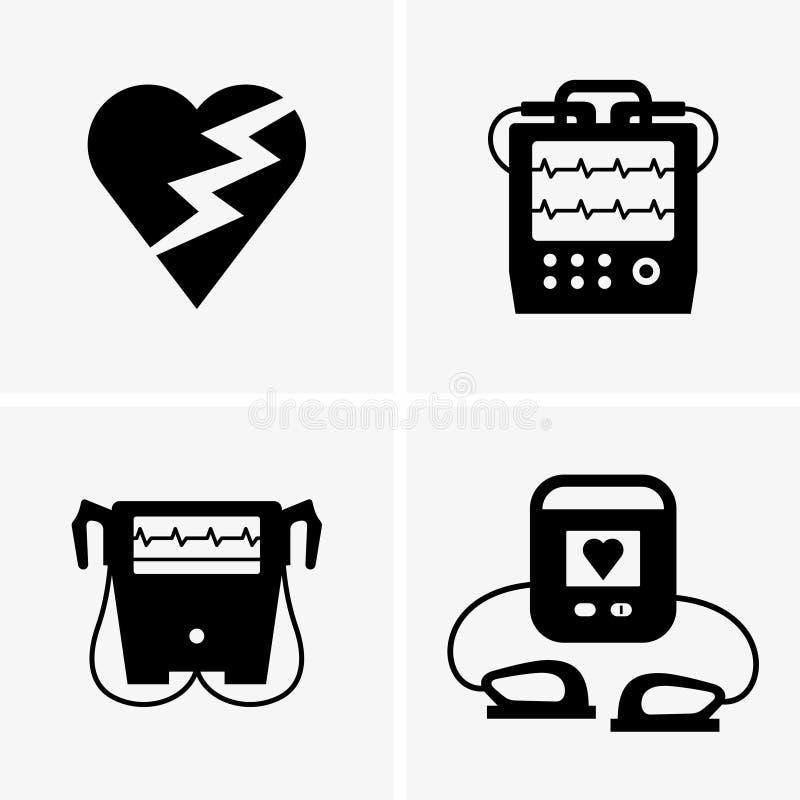defibrillator ilustración del vector