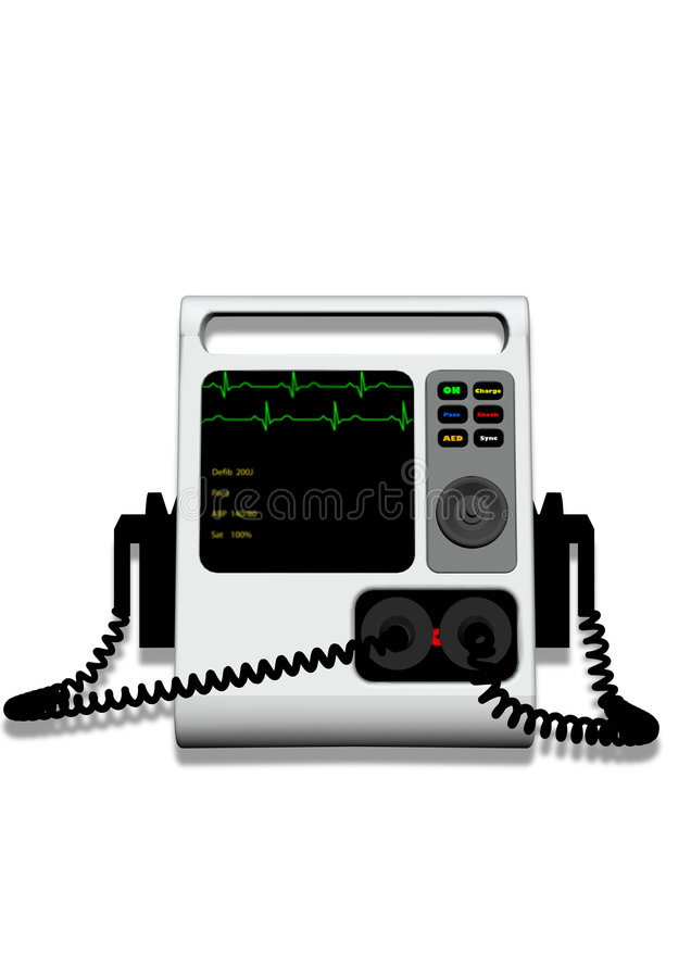 Download Defibrillator With Clipping Path Royalty Free Stock Images - Image: 5058089