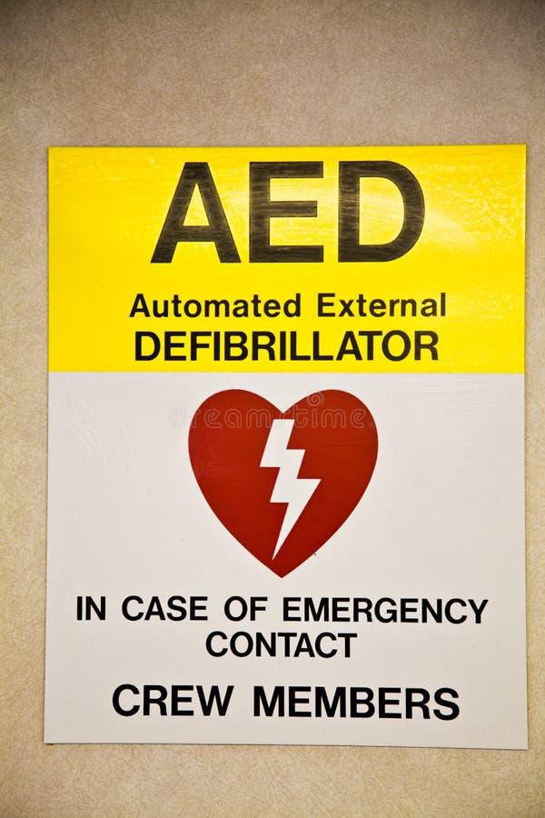 Defibrillator del segno fotografia stock libera da diritti