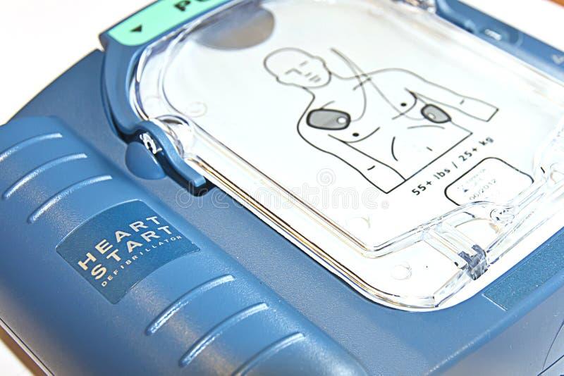 Defibrillator do começo do coração fotos de stock royalty free