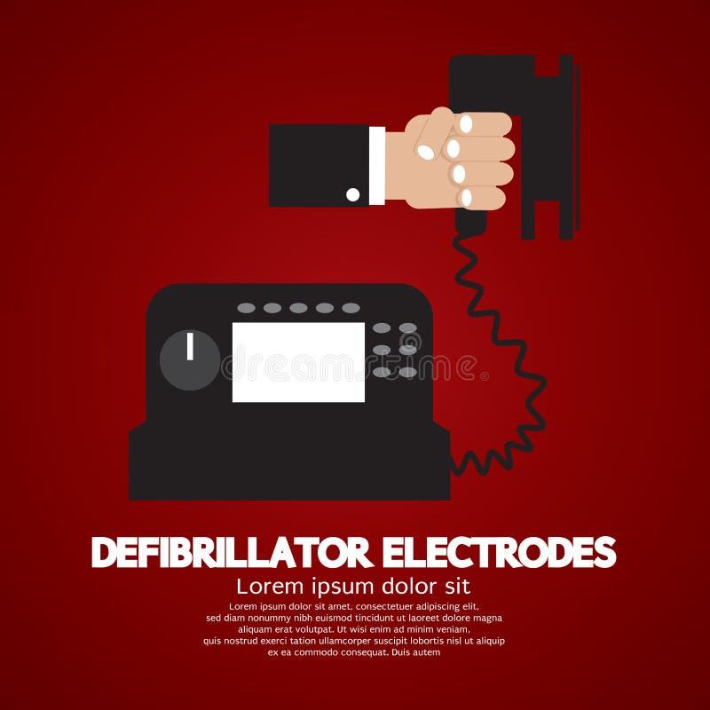Defibrillator Elektrodenmedische apparatuur vector illustratie