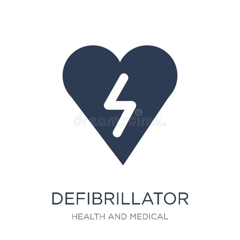 Defibrillator icon. Trendy flat vector Defibrillator icon on white background from Health and Medical collection royalty free illustration