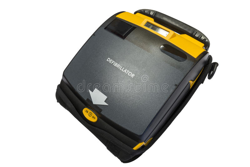 Defibrillator ou AED externo automatizado imagens de stock