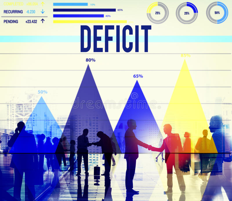 Deficit Bankruptcy Crisis Problem Budget Business Concept vector illustration