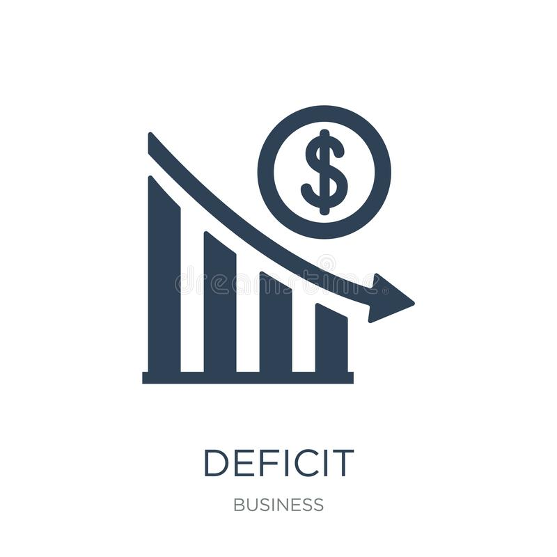 deficit icon in trendy design style. deficit icon isolated on white background. deficit vector icon simple and modern flat symbol royalty free illustration