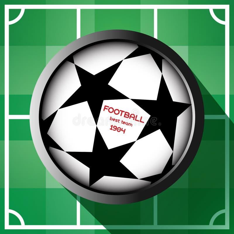 Defiende la bola de la liga con comienzo stock de ilustración