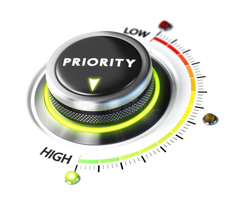 Defina a alta prioridade ilustração do vetor