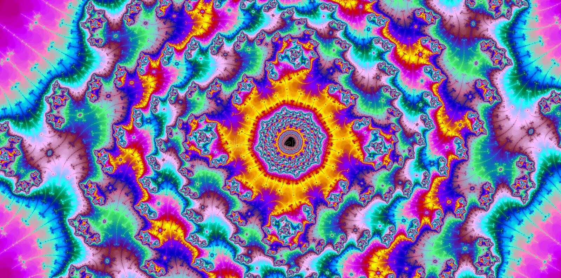 Definição colorida abstrata do fractal do fundo olá! ilustração do vetor
