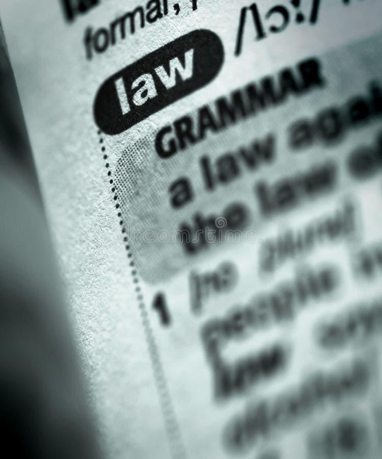 Definição da lei no dicionário fotos de stock royalty free