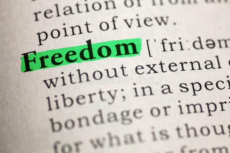 Definição da liberdade da palavra fotos de stock royalty free