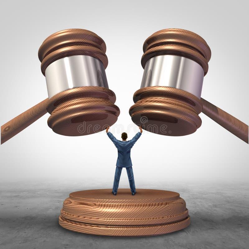 Definição da mediação ilustração royalty free