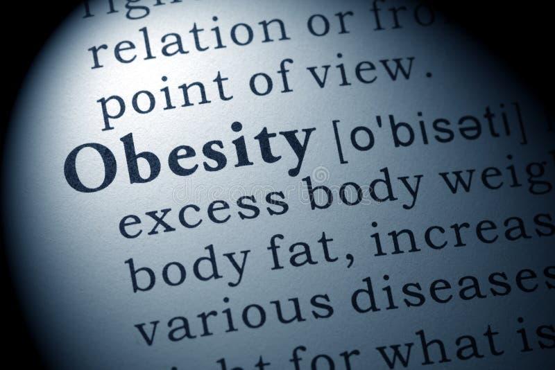 Definição da obesidade foto de stock royalty free