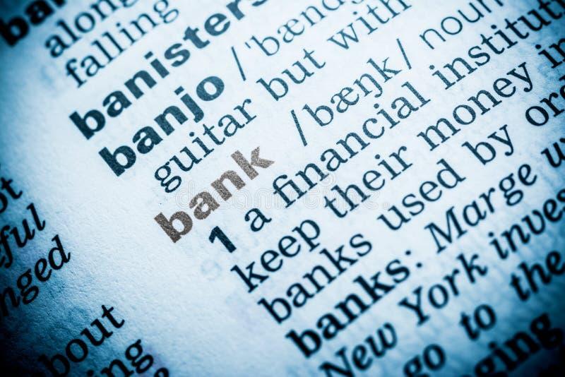 Definição da palavra do banco imagens de stock royalty free