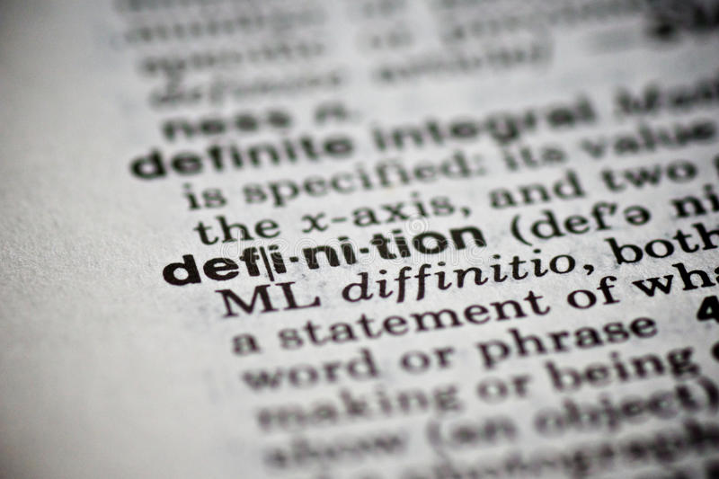 Definição da palavra no dicionário foto de stock royalty free
