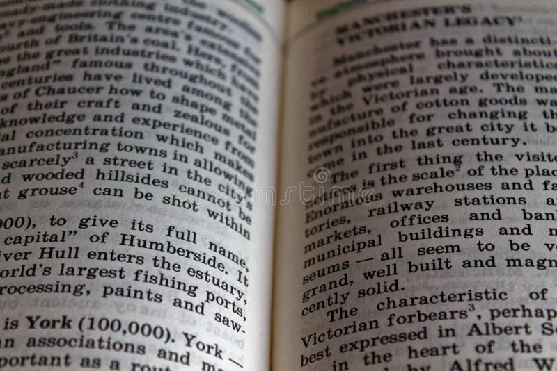 Definição de aprendizagem inglesa da palavra com efeito do vignetting fotos de stock royalty free