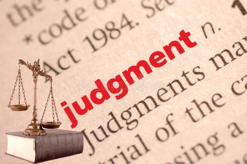 Definição de dicionário do julgamento imagens de stock royalty free