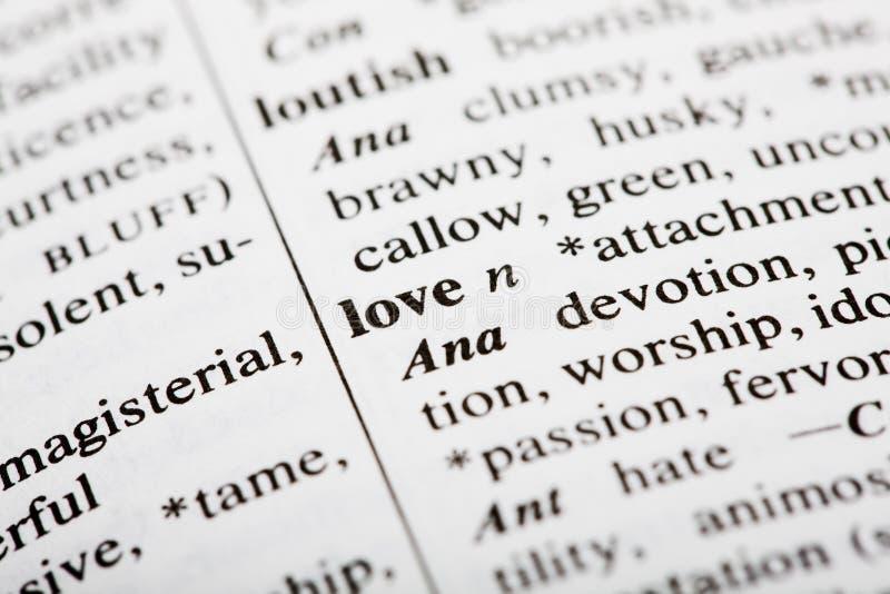 Definição do amor imagens de stock royalty free